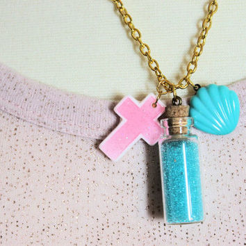 Mermaid Necklace by chelseapapercakes on Etsy
