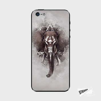 Tribal Elephant iPhone 5 / 5S iPhone 4 / 4S Galaxy S3 / S4 Nexus 5 Nokia Lumia Skin Cover Decal Sticker