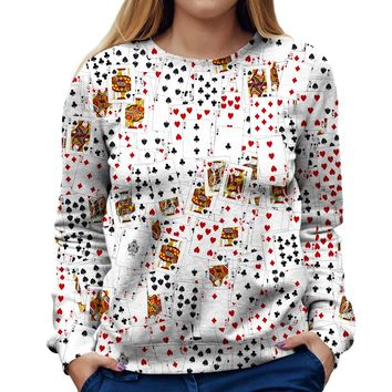 Poker Star Womens Sweatshirt