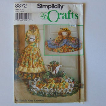 Simplicity Crafts Sewing Pattern 8872 Cow, Pig and Pony Draft Stopper