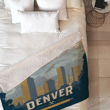 Anderson Design Group Denver 1 Fleece Throw Blanket