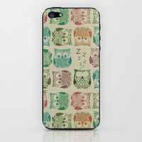 vintage sherbet owls iPhone & iPod Skin by Sharon Turner | Society6