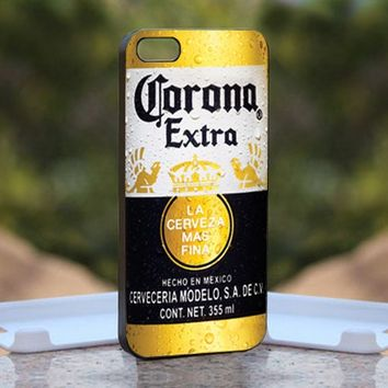 CORONA Extra Beer Bottle, Print on Hard Cover iPhone 5 Black Case