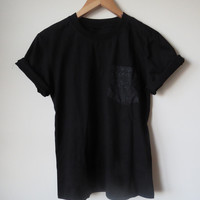 Dark Constellation Sky Pocket Tee