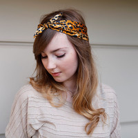Tie Up headband in leopard print RETRO CUTE or choose your print