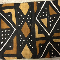 Beautiful natural dyed mud cloth from Cameroon Africa.