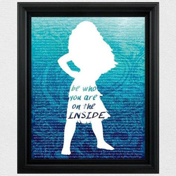 Disney Princess Silhouette Moana Silhouette Disney Moana Disney Silhouette Moana Quote Wall Art Decor Girls Room Instant Download Printable