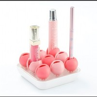 INFMETRY::  Flower Shaped Makeup Cosmetics Organizer