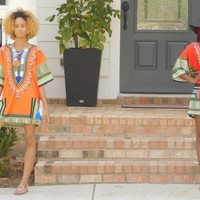 Dashiki Dress Polyester Style