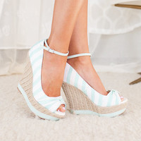 Sail with Me Mint Wedges