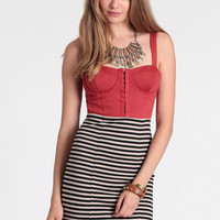 Tainted Stripes Dress - $48.00: ThreadSence, Women's Indie & Bohemian Clothing, Dresses, & Accessories