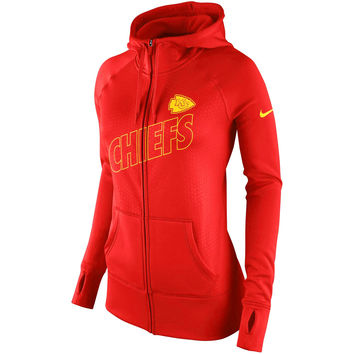Women's Kansas City Chiefs Nike Red Stadium Game Day KO Full Zip Performance Hoodie