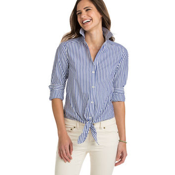 Stripe Mix Tie Top