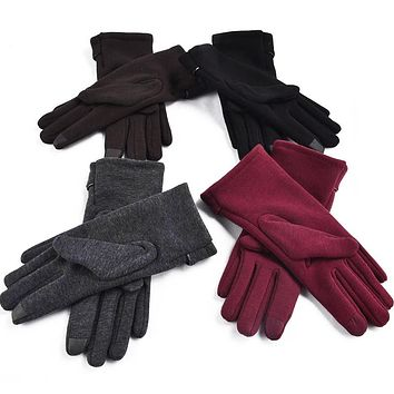 FAUX FUR-LINED GLOVES