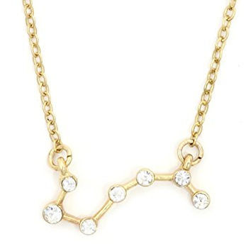 Dipper Constellation Necklace Gold Tone NV49 Crystal Star Chart Pendant Fashion Jewelry