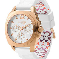 COACH BOYFRIEND SILICON RUBBER STRAP WATCH | Dillards.com