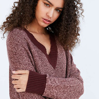 Silence + Noise Remy Deep V Sweater | Urban Outfitters
