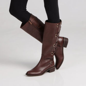 BCBGeneration 'Janiss' Leather Knee-high Boots | Overstock.com