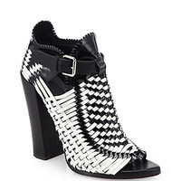 Proenza Schouler: Woven Leather Ankle Boots