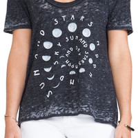 Chaser Sun Moon and Stars Tee in Black