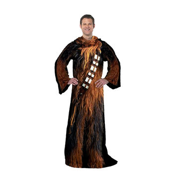 Star Wars Classic - Being Chewie  Adult Comfy Throw Blanket with Sleeves