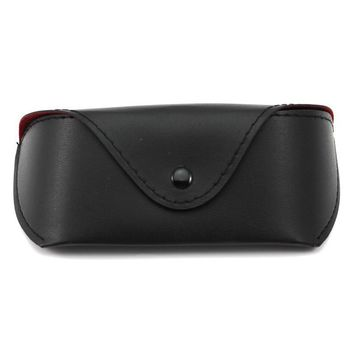 Portable Soft PU Leather Anti-knock Protective Eye Glasses Sunglasses Protector Holder Box Button Case