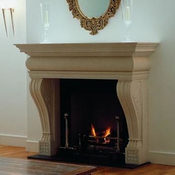 Product: 17-Vicenza - Fireplace Mantels, Fireplace Mantel, Custom Mantels, Stone Mantels, Marble Mantels, Travertine Mantels, Mantels with legs, Mantel shelves, Unfinished mantel shelf, Full mantel, Antique Mantels, Oak mantels, Pine - at wilshirefireplace