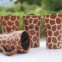"GIRAFFE Ceramic Travel Mug 6-1/4""H, 81698 by ACK:Amazon:Kitchen & Dining"