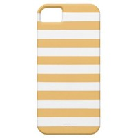 Beeswax Color And White Stripes iPhone 5 Cases from Zazzle.com
