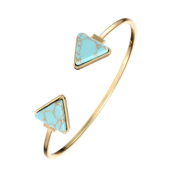 Bohomian Trianlge Bangle Triangle
