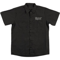 Slipknot Men's  Cartoon Work Shirt Black Rockabilia
