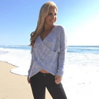 Euphoric Criss-Cross Knit Sweater