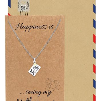 Juliana Family Necklace, Gifts for Mom, Mothers Day Gift with Greeting Card