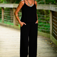 The Windy City Jumpsuit, Black