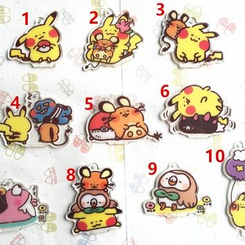 Japan Original GAME FREAK  Keychain Anime  SPECIAL Pocket Monsters Dedenne Series Acrylic PendantKawaii Pokemon go  AT_89_9