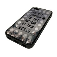 For Apple iPhone 5C 5 C Case Cover Skin Conformity Quote Inspirational DESIGN BLACK RUBBER SILICONE Teen Gift Vintage Hipster Fashion Design Art Print Cell Phone Accessories