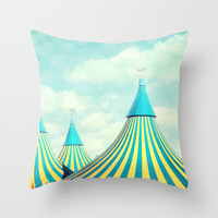 circus tent 2 Throw Pillow by Sylvia Cook Photography