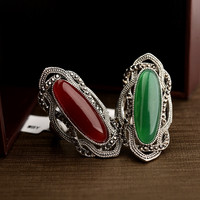 Real Austrian Crystals Classic Vintage pattern  Antique Silver Color Fashion Rings For women Top Sale New 10355