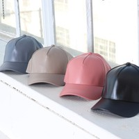 Vegan Leather Baseball Cap from shopbaddieville