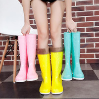 Rubber Boots, Rain Boots, Tall Slip On Boots