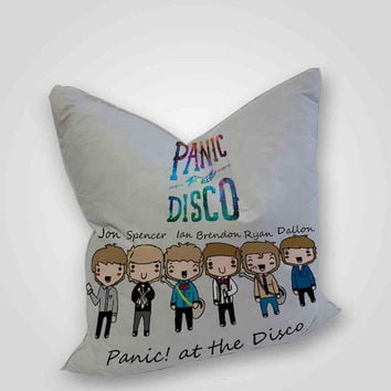 Panic At The Discto Logo Galaxy, pillow case, pillow cover, cute and awesome pillow covers