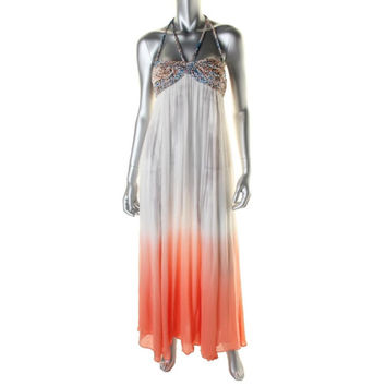 Free People Womens Ombre Braided Maxi Dress