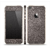The Black Glitter Ultra Metallic Skin Set for the Apple iPhone 5s