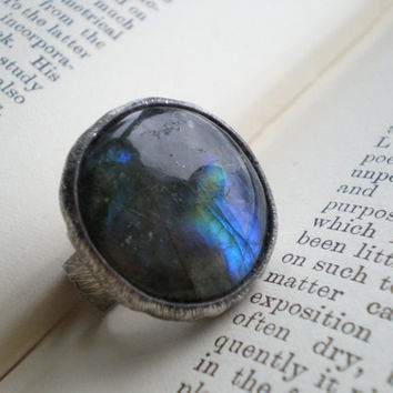 Small ring statement ring labradorite ring delicate stone ring adjustable round ring cocktail ring hippie ring handmade jewelry AWillam