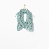 Green animal print neckerchief