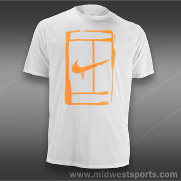 Nike Mens Tennis T-Shirt, Nike Court Logo T-Shirt 543607-100,  Midwest Sports