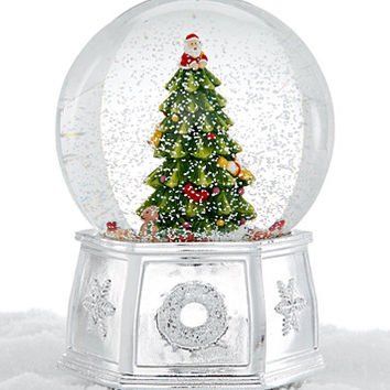 Spode Christmas Tree Large Snow Globe | macys.com