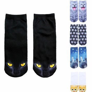 Vintage All Over Print Cat Low Cut Socks Funny Crazy Cool Novelty Cute Fun Funky Colorful