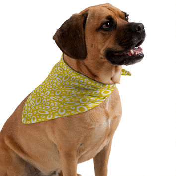 Heather Dutton Molecular Yellow Pet Bandana