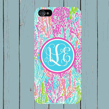 Samsung Galaxy S6 Case iPhone 6 Case iPhone 6 Plus iPhone 5S case Lilly Pulitzer Inspired monogram iPhone 5 case i